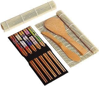 Gosear Completa Sushi de bambú Haciendo Kit 2 Sushi Rolling