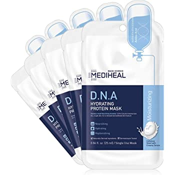 MEDIHEAL Official [Korea's No 1 Sheet Mask] - D.N.A Hydrating Protein Mask (5 Masks)