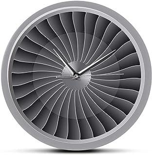 Reloj De Pared Motor A Reacción Turbina Ventilador Aviación Reloj De Pared Avión Arte Moderno De La Pared Reloj Aviación Decoración Del Hogar Jet Artwork Piloto Reloj De Pared Silencioso Fácil De Leer