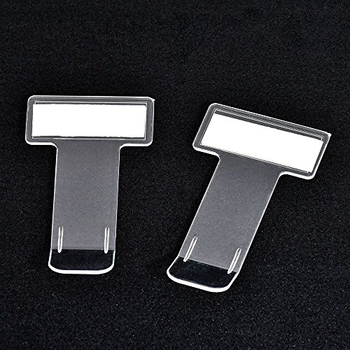WSERE 5 Pieces Transparent Car Parking Ticket Holder Clip Car Windshield Windscreen Tickets Holder with Adhesive Tape