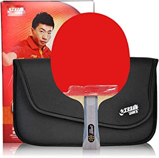 DHS Ping Pong Table Tennis Racket Paddle Bat 6 Star Penhold/Shakehand Handle Bat with LANDSON