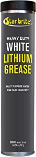Star brite White Lithium Grease - NLGI-2 High Performance - Marine Grade - 14 oz Grease Gun Cartridge