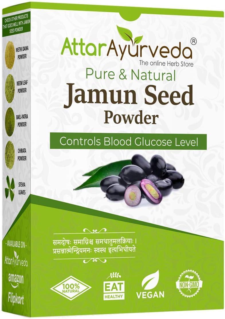 RRG Attar Ayurveda Jamun Surprise price overseas Seed Powder 250 for - Diabetes g