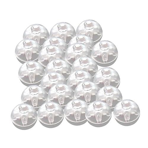 50pcs Mini-ballon Lumieuse Lampe LED Multi Décoration D'anniversaire Noël Fête - rouge