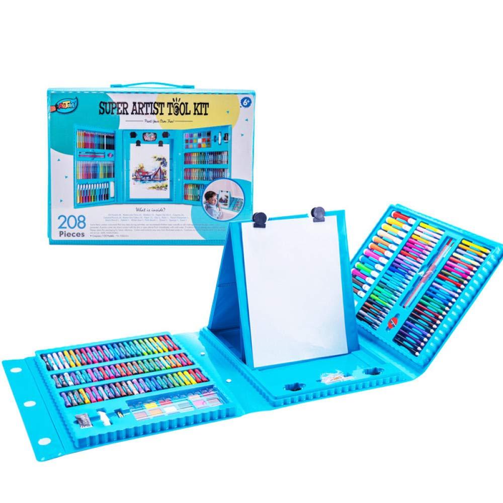 Lápices de Colores,208 Pintura para niños Caja de Regalo Color Plomo, Acuarela lápiz crayón óleo Pastel @ Azul,Set Artístico para Dibujar y Bocetar: Amazon.es: Hogar