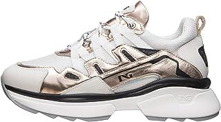 Nero Giardini E010808D Sneakers Donna in Pelle E Tela