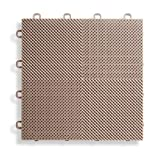 BlockTile B2US5130 Deck and Patio Flooring Interlocking Tiles Perforated Pack, Beige, 30-Pack by BlockTile