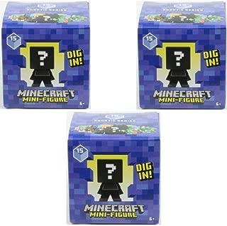 Minecraft Blind Box Aquatics Mini Figure Series 15 (3 Blind Boxes)