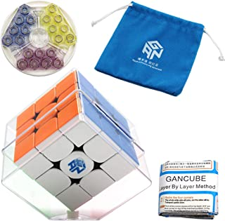 Moruska Gan 354 M Magnetic Speed Cube 3x3 Stickerless Gan 354M 3x3x3 Cube Puzzle with Original Portable Pouch