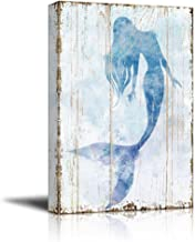 wall26 - Mermaid Picture on Vintage Background - Canvas Art Wall Decor - 16