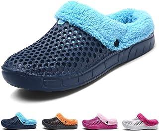 Hiver Jardin Sabots Hommes Femmes Pantoufles Chaud Peluche Intérieur Maison Chaussons Coton Chaussures Douces Anti-Slip d'...