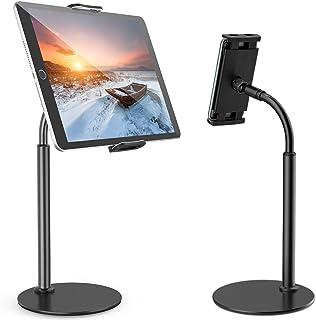 Tryone Tablet Stand, Gooseneck Tablet holder, 360 Degree Rotating Phone Holder Desk Stand, Flexible Desktop Tablet Stand f...