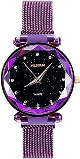 Women Watches Fashion Starry Sky Waterproof Wrist Quartz Watch Stainless Steel Band Strap Bracelet Diamond