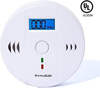 CO Detector Carbon, Monoxide Alarm LCD Portable Security Gas CO Monitor,Battery Powered (Battery not included)
