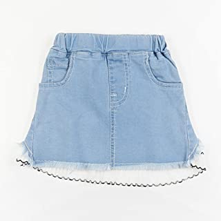 Adorable Upcycled Denim Lace Skirt