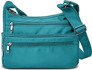RFID-Geldbörsen für Frauen, Stoff, Nylon, mehrere Taschen, Crossbody-Tasche, Damen-Reisehandtasche