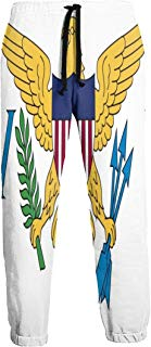 Virgin Islands Flag National Flag of Virgin Jogger Pants Quick Dry Sweatpants with Elastic Waist Casual Pants for Men