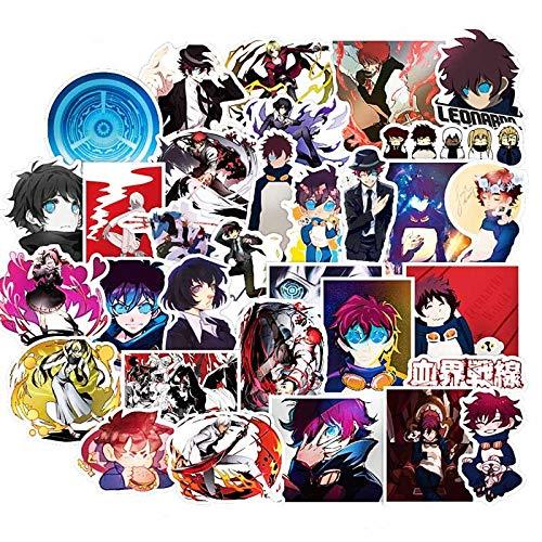 Pegatinas de dibujos animados japoneses de anime kaikesen para refrigerador, maleta, álbum de recortes, ordenador portátil, esquí, graffiti PVC, 50 unidades
