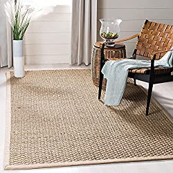top 10 patio rugs ikea Safavieh Natural Fiber Collection NF114A Basket Weave Natural and Beige Summer Sea Weed Carpet…