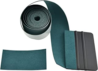 FOSHIO Micro Fiber Felt for Squeegee Edge Wrapping 2 Meters Length - Dark Green Suede Felt to Cover The Edges of Hard Card Squeegees