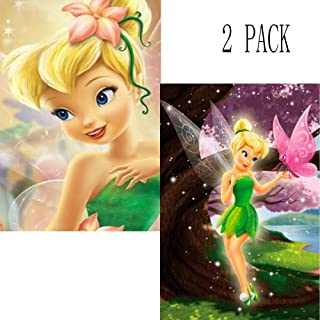 2 Pack 5D Diamond Painting Tinker Bell Princess Full Drill by Number Kits for Adults Kids, Rhinestone Crystal Drawing Gift Embroidery Dotz Kit Home Wall Décor Paint(12''x 16'')