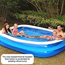 AILAAILA Inflatable Pool, Family Inflatable Swimming Pool for Baby, Kiddie, Kids, Adult, Infant, Toddlers Outdoor, Garden, Backyard, Summer Water Party