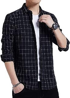 [meryueru(メリュエル)] 大人 カジュアル ウィンドウペン チェックシャツ 長袖 カジュアル オールシーズン 着回し メンズ