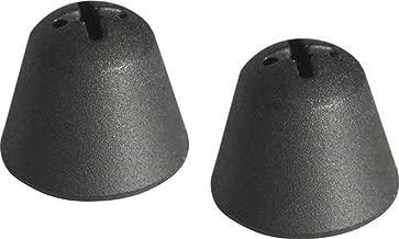 Genuine Sennheiser Black Silicone Replacement Ear tips Sleeves for SENNHEISER SET 830-TV, SET 840-TV, SET 900, RI 830, HDI 830, RR 840, RI 900 TV Listening Headphone System, 10 Pack (5 Pairs)