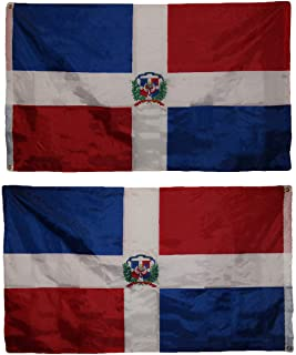 ALBATROS 3 ft x 5 ft Dominican Republic Country 2ply Double Sided Flag 3 ft x 5 ftft Banner for Home and Parades, Official Party, All Weather Indoors Outdoors