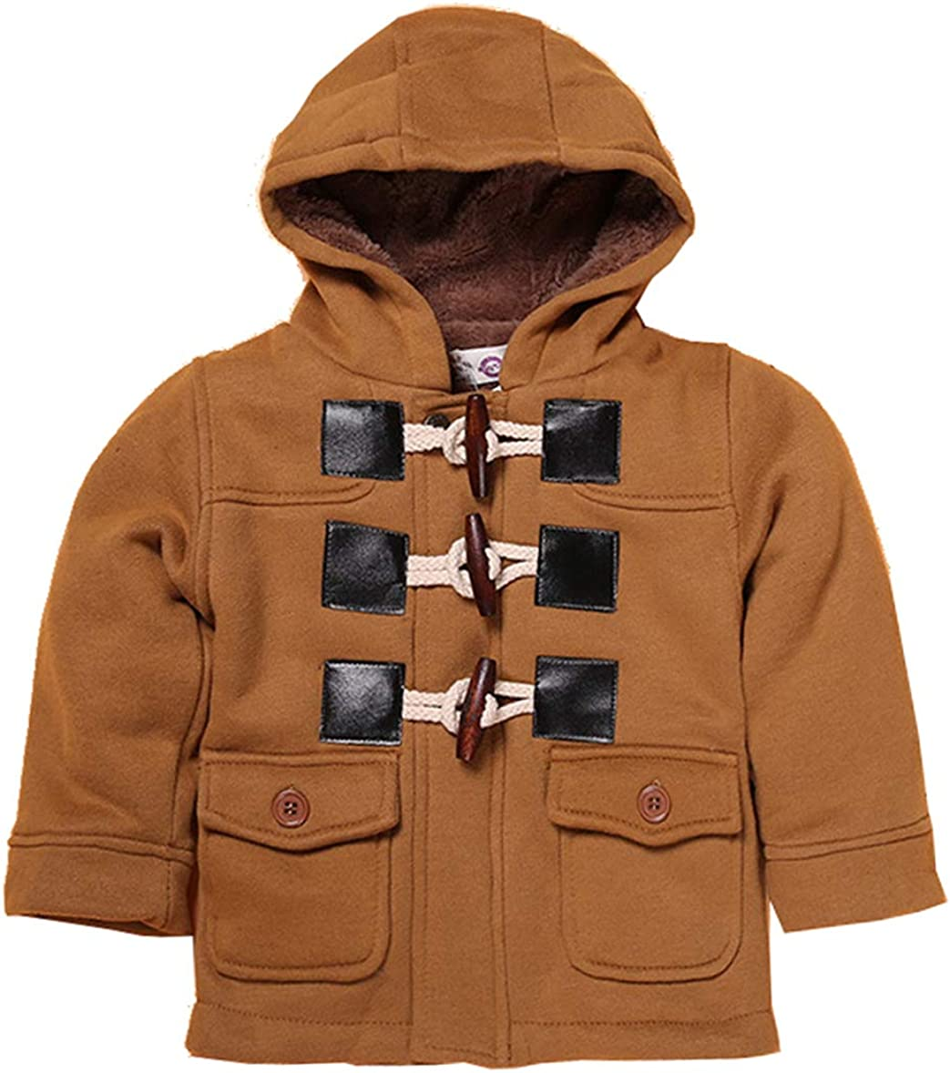 Popular products Qinni-shop Baby Toddler Little Boys Fleece Gray Price reduction Duf Khaki Hooded