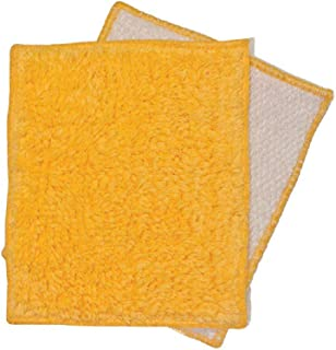 Janey Lynn Designs Cornbread Yellow Shrubbies 5 by 6 inches Cotton and Nylon Washcloth