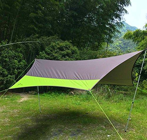 GJX Baldakijn tent, grote Oxford-doek outdoor camping tent, regendicht zonwering schaduw aluminium camp kolom grote pergola (5-8 personen)