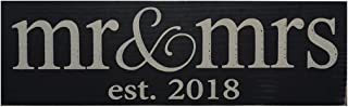 Local Artist Wooden Mr and Mrs Established 2018 Wedding Sign or Home Decor. Perfect as a Wedding Gift or Wedding Reception Decor.