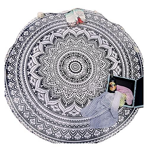 YUEWEIWEI Mandala Independiente Popular Tapiz Redonda o Manta Manta de Playa o Estilo Boho Round Redondo, Alfombra de Meditación o Montado en la Pared, Matada de Yoga Redonda