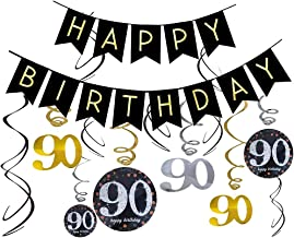 90th Birthday Banners/90th Birthday Decorations, Mom/Dad 90th Birthday Party Supplies for 90th Birthday Party Decorations