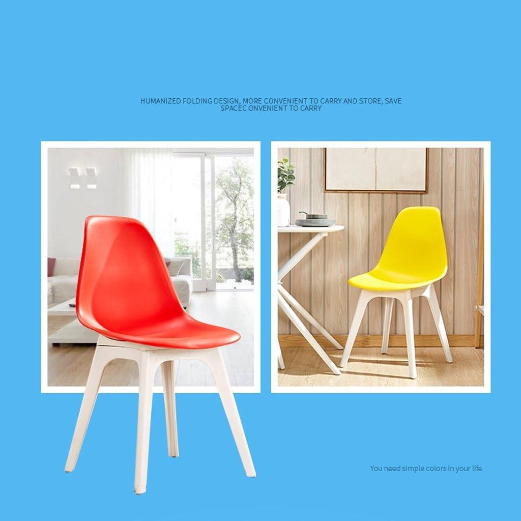 XXT Dossier de Chaise en Plastique Simple Chaise de Bureau Moderne Durable (Color : E) B