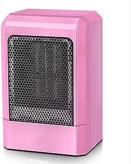 YONG 500W Mini Calefactor cerámico,Calentador Ventilador,Elemento Calefactor PTC,Ahorro de energía,Protección contra sobrecalentamiento,Calor rápido de Tres Segundos,Rosado