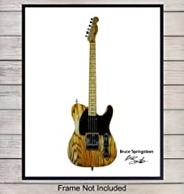 Bruce Springsteen Guitar Wall Art Print - Fender Photo Poster - Gift for The Boss and 80's Music Fans, Musicians - Unique Home Decor for Man Cave, Studio, Game or Rec Room, 8x10 Unframed