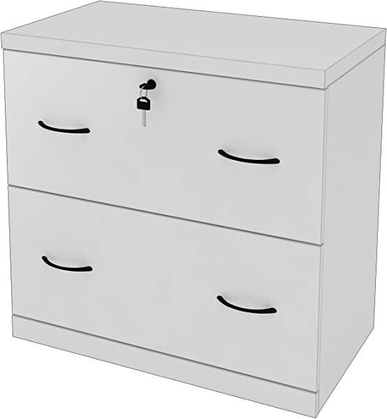 Z Line Designs 2 Drawer White Lateral File White