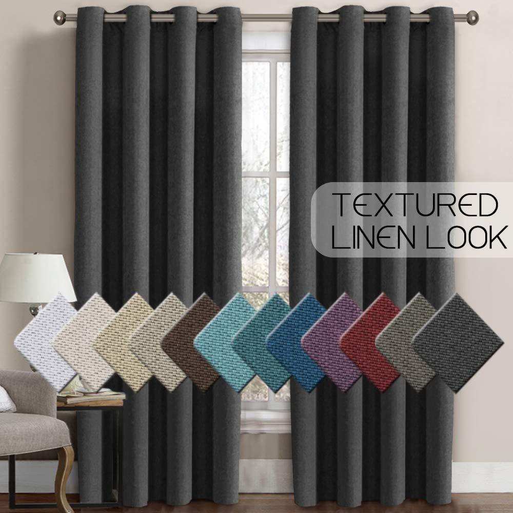Blackout Curtains Darkening Textured Draperies