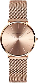 Relojes de Mujer, L'ananas Rosa Oro Acero Inoxidable Malla