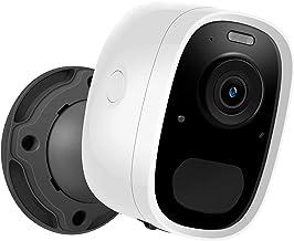 Câmera sem fio com bateria recarregável, câmera de segurança doméstica sem fio de alta definição 1080P com visão noturna, ...