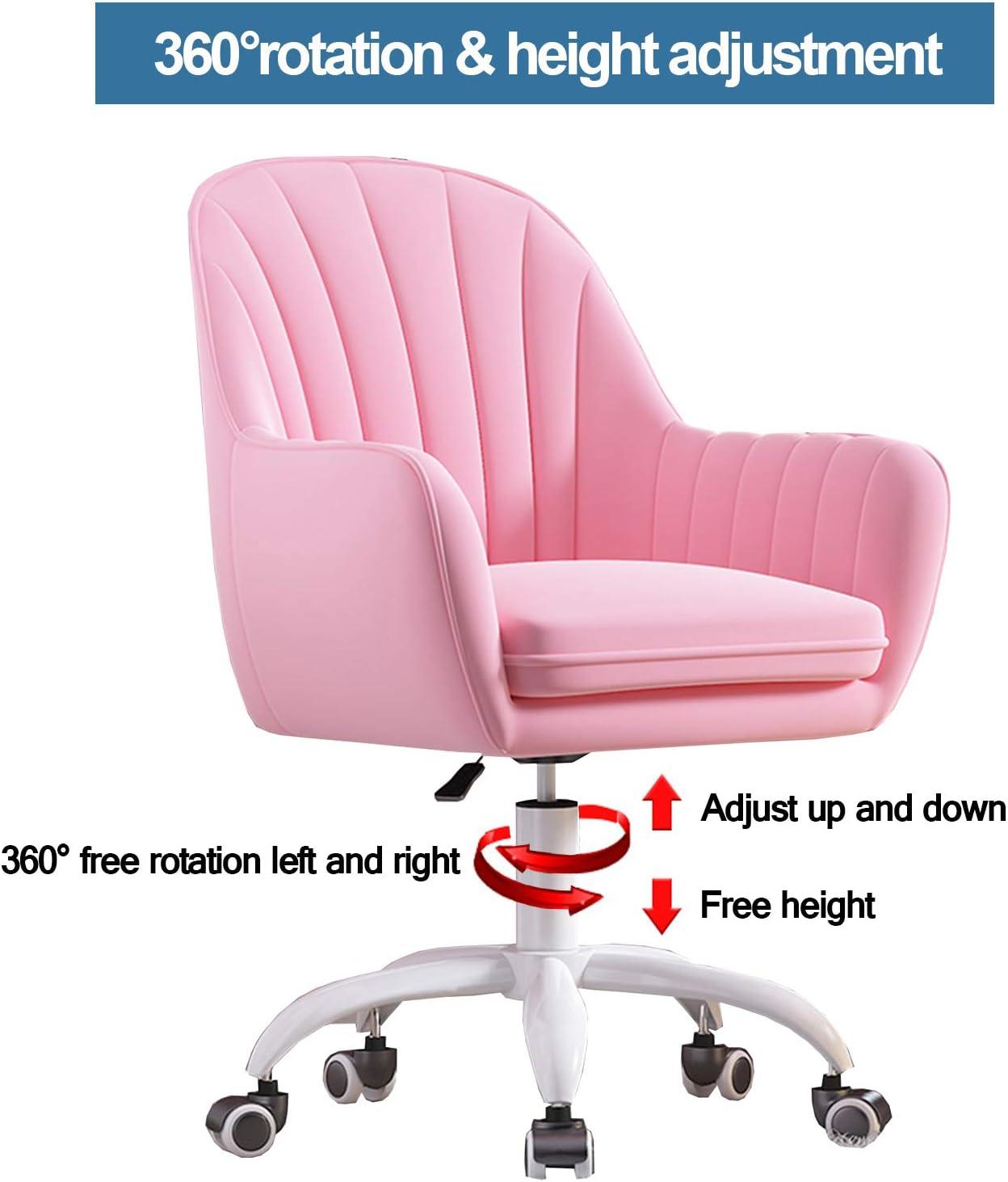 LIYIN Chaise de Bureau à Domicile Chaise de Bureau Ergonomique Chaise d'ordinateur réglable en Hauteur Chaise de Maquillage à Dossier Moyen, Charge maximale 200 kg #8