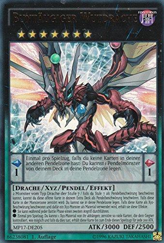 MP17-DE205 - Buntäugiger Wutdrache - Ultra Rare - Yu-Gi-Oh - Deutsch - 1. Auflage - LMS Trading