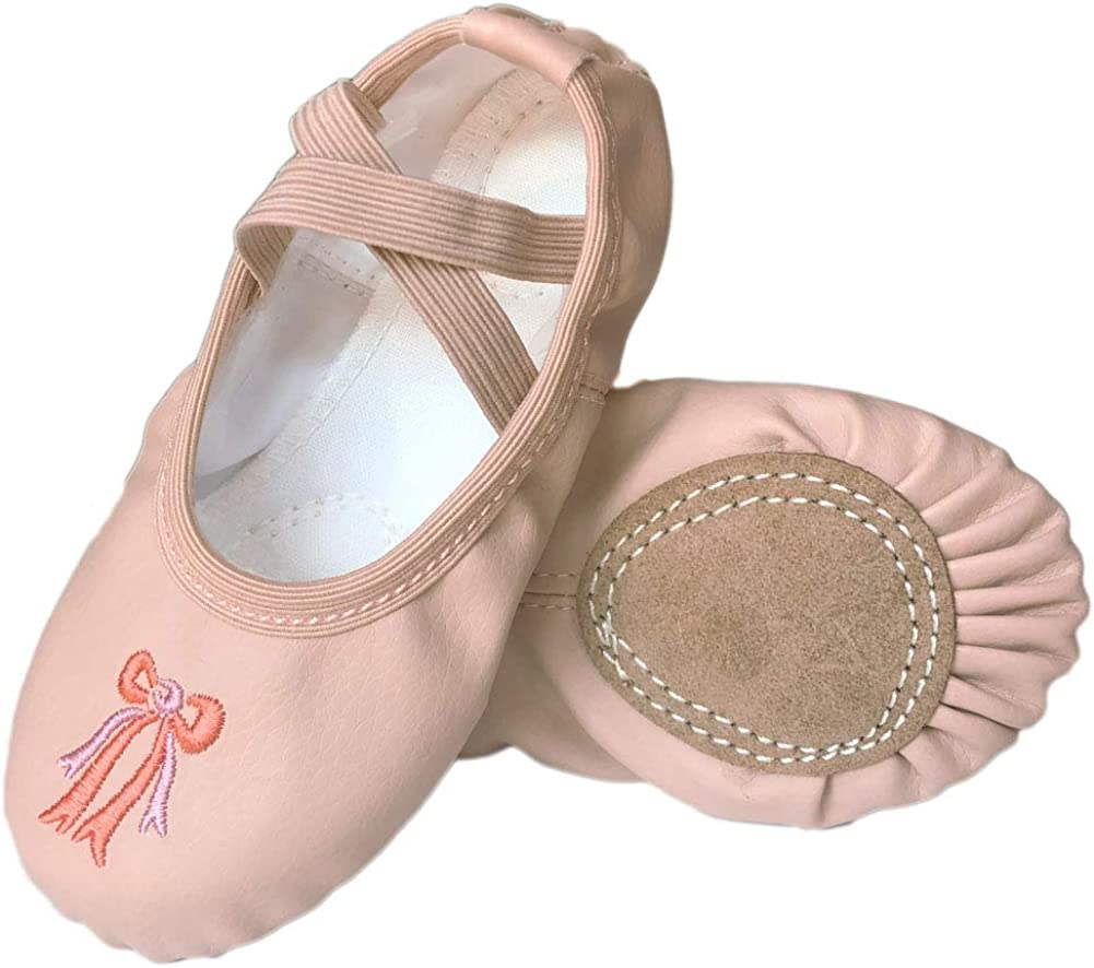 Clouh Girls Ballet Practice Shoes,Yoga Shoes for Dancing,Slippers for Kids Toddler