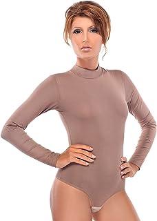 Body da donna con collo rotondo Body sportivo a maniche lunghe Tuta a maniche lunghe Body confortevole con gancio di chiusura Evoni Velvet Body con vestibilit/à ottimale