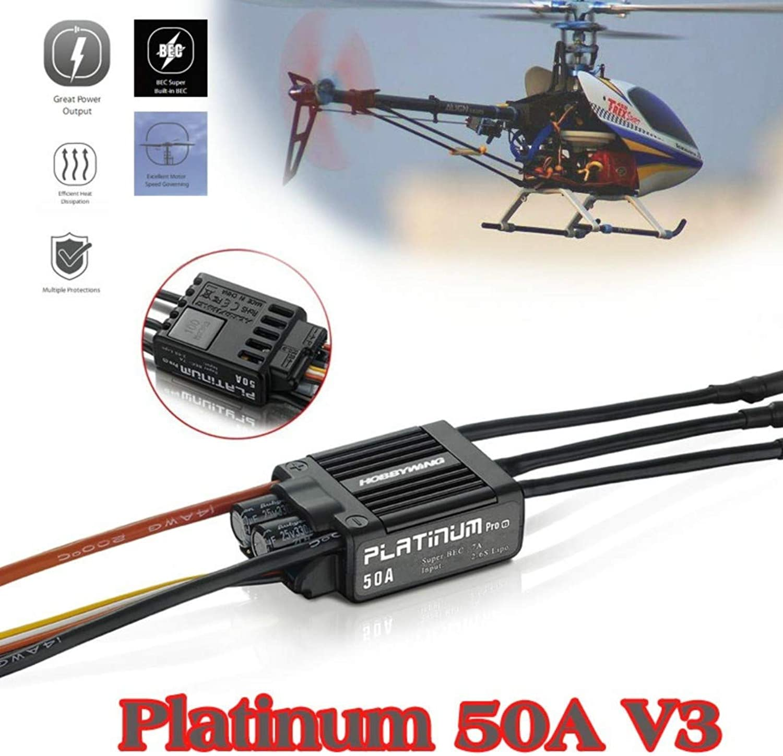 Hobbywing High Performance Platinum 100A V3 50A 100A V3 60AV4 ESC for GAUI X3 T REX helicopter airplanes