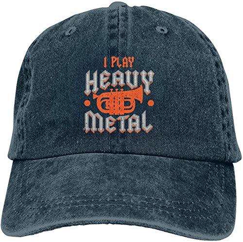Juego Gorras de Vaquero de Heavy Metal Sombreros de béisbol Ajustable