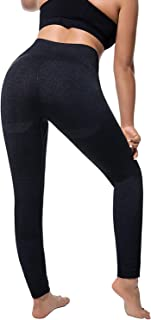 Helisopus Women's Ombre Seamless Yoga Leggings High Waist Tummy Control Butt Lift Workout Active Stretch Running Gym Pants