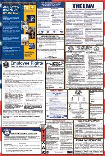 Texas/Federal Combination Labor Law Posters w/NLRA